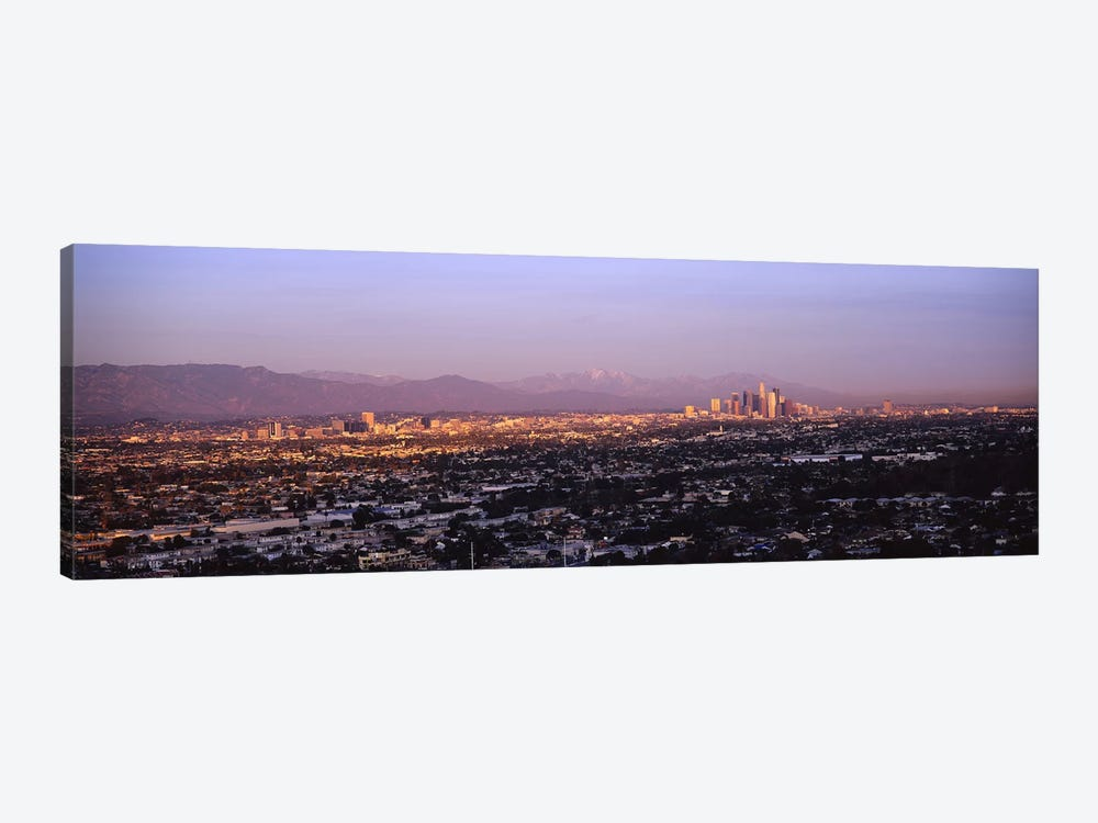 Buildings in a city, Hollywood, San Gabriel Mountains, City Of Los Angeles, Los Angeles County, California, USA #3 by Panoramic Images 1-piece Canvas Art