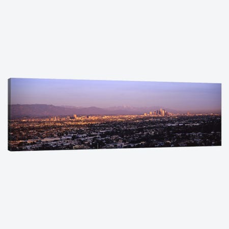 Buildings in a city, Hollywood, San Gabriel Mountains, City Of Los Angeles, Los Angeles County, California, USA #3 Canvas Print #PIM6639} by Panoramic Images Canvas Art Print