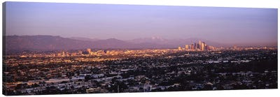 Buildings in a city, Hollywood, San Gabriel Mountains, City Of Los Angeles, Los Angeles County, California, USA #3 Canvas Art Print
