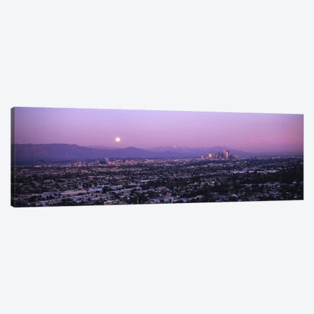 Buildings in a city, Hollywood, San Gabriel Mountains, City Of Los Angeles, Los Angeles County, California, USA #4 Canvas Print #PIM6640} by Panoramic Images Canvas Art
