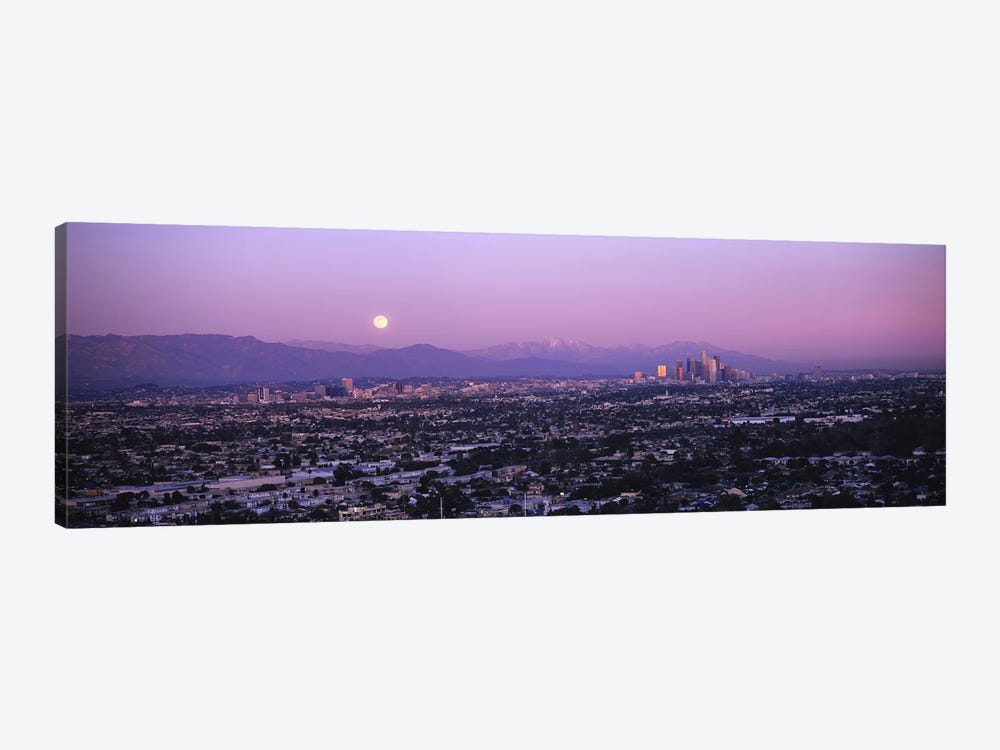 Buildings in a city, Hollywood, San Gabriel Mountains, City Of Los Angeles, Los Angeles County, California, USA #4 by Panoramic Images 1-piece Canvas Art