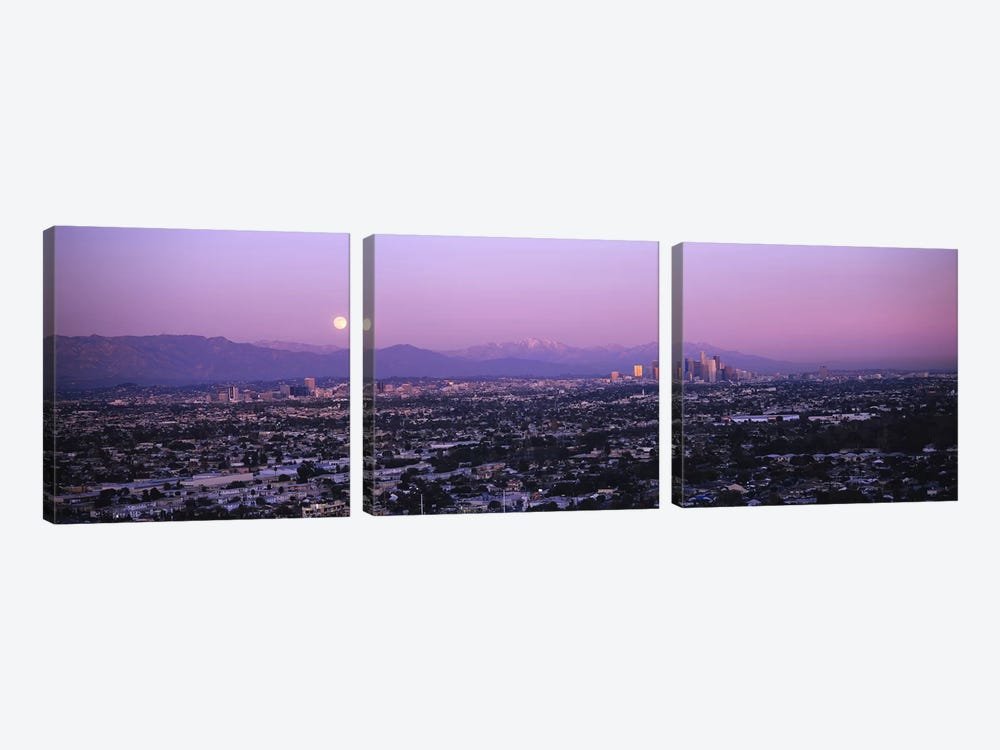 Buildings in a city, Hollywood, San Gabriel Mountains, City Of Los Angeles, Los Angeles County, California, USA #4 by Panoramic Images 3-piece Canvas Art
