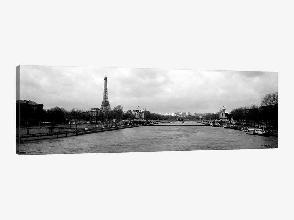 A View Down The Seine In B&W, Paris, Ile-De-France, France by Panoramic Images 1-piece Art Print