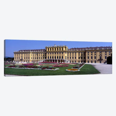 Formal garden in front of a palace, Schonbrunn Palace Garden, Schonbrunn Palace, Vienna, Austria Canvas Print #PIM6645} by Panoramic Images Art Print