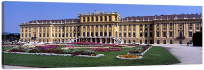 Formal garden in front of a palace, Schonbrunn Palace Garden, Schonbrunn Palace, Vienna, Austria Canvas Art Print