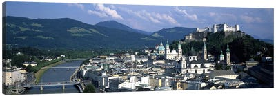 High-Angle View Of Altstadt, Salzburg, Austria Canvas Art Print