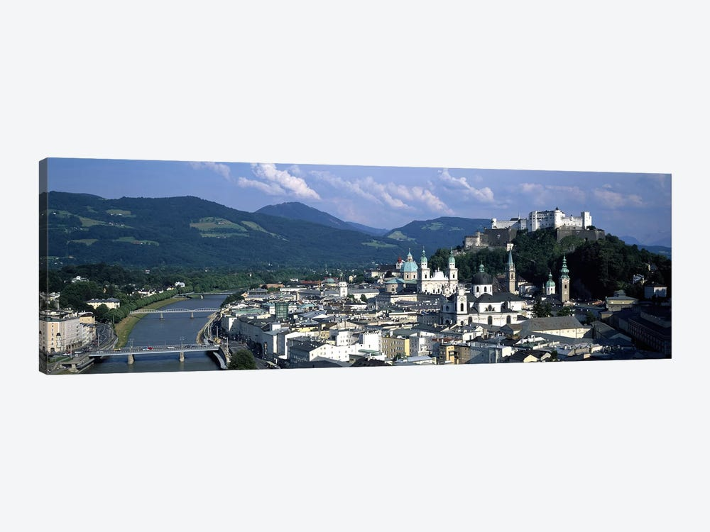High-Angle View Of Altstadt, Salzburg, Austria by Panoramic Images 1-piece Art Print