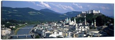 High-Angle View Of Altstadt, Salzburg, Austria Canvas Art Print