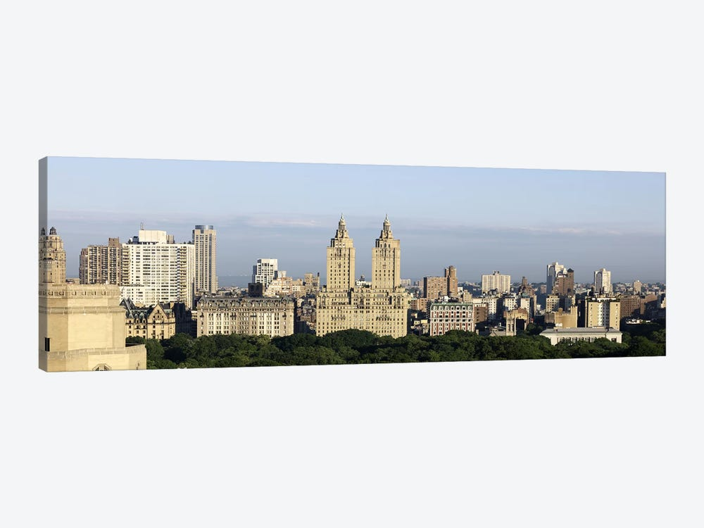 High angle view of a city (The Dakota, The Langham, The San Remo), Central Park West, Manhattan, New York City, New York State,  by Panoramic Images 1-piece Art Print