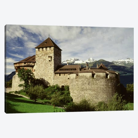 The Castle in Vaduz Lichtenstein Canvas Print #PIM664} by Panoramic Images Art Print