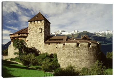 The Castle in Vaduz Lichtenstein Canvas Art Print
