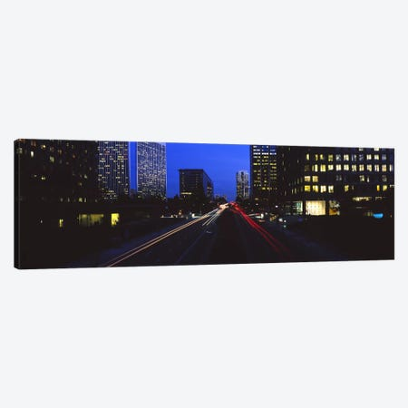 Buildings lit up at night, Century City, Los Angeles, California, USA Canvas Print #PIM6651} by Panoramic Images Canvas Print
