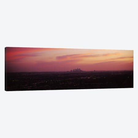 High angle view of a city, Los Angeles, California, USA Canvas Print #PIM6652} by Panoramic Images Art Print