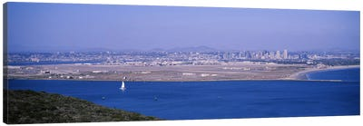 High angle view of a coastline, Coronado, San Diego, San Diego Bay, San Diego County, California, USA Canvas Print #PIM6653