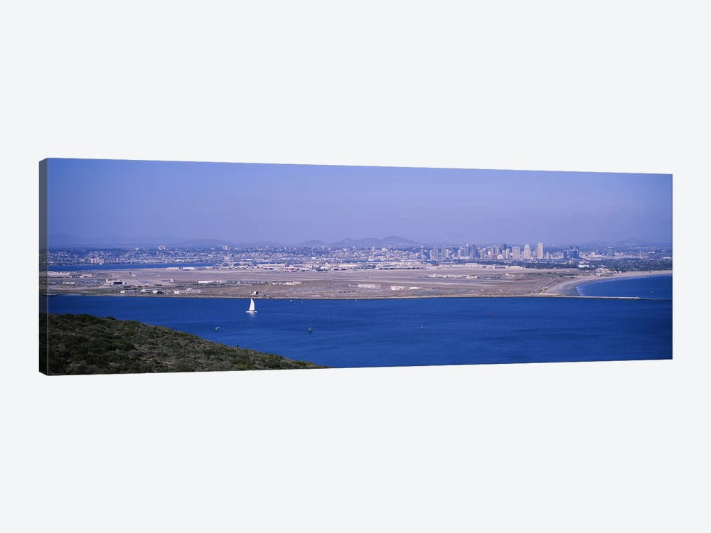 High angle view of a coastline, Coronado, San Diego, San Diego Bay, San Diego County, California, USA by Panoramic Images 1-piece Canvas Wall Art