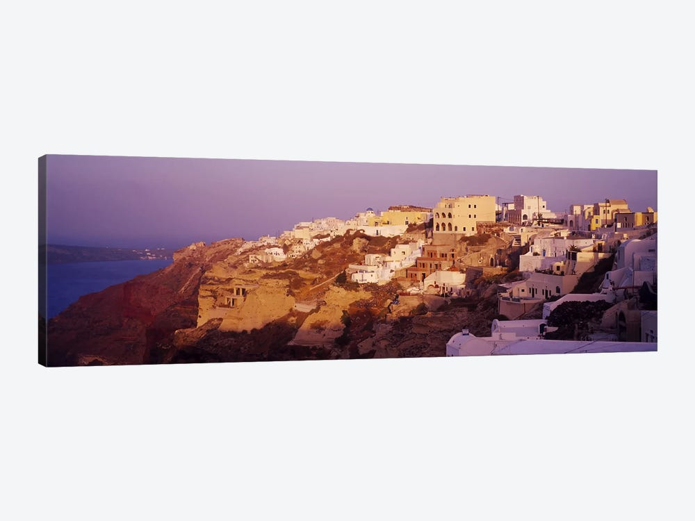 Town on a cliff, Santorini, Greece 1-piece Art Print