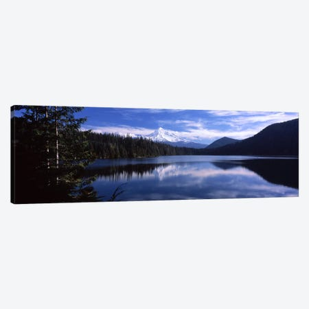 Reflection of clouds in waterMt Hood, Lost Lake, Mt. Hood National Forest, Hood River County, Oregon, USA Canvas Print #PIM6669} by Panoramic Images Canvas Wall Art