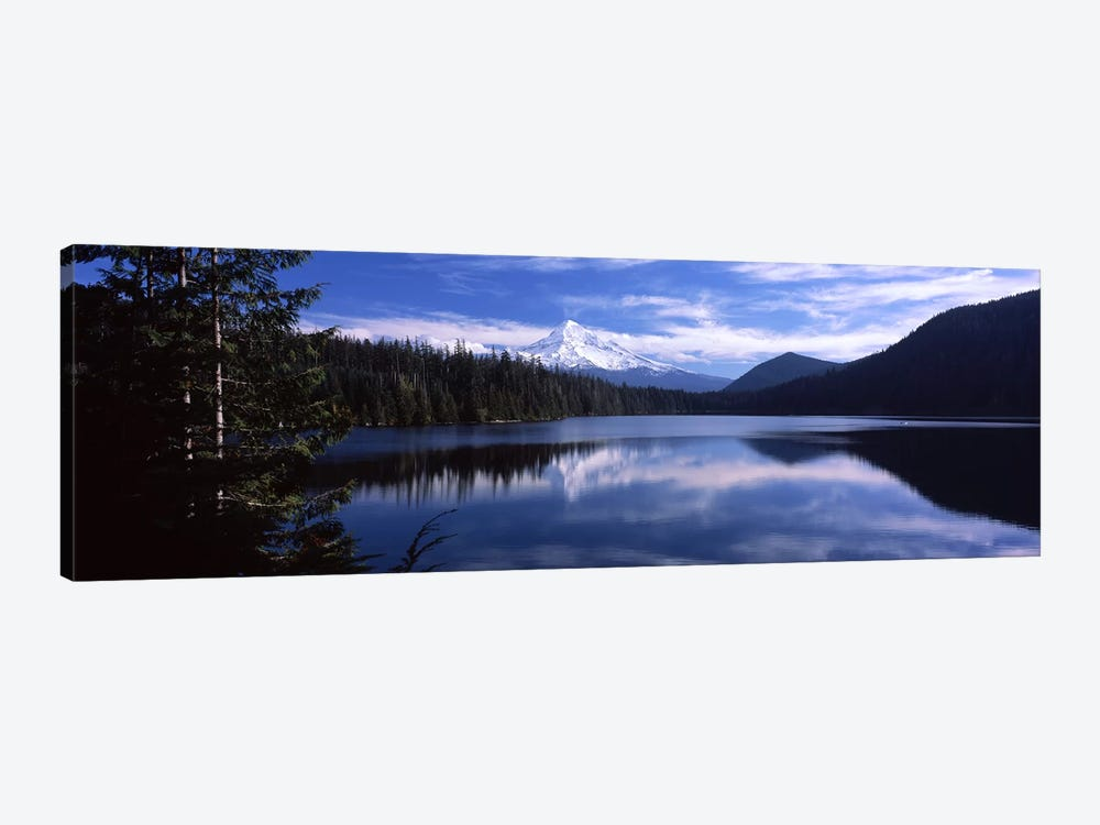 Reflection of clouds in waterMt Hood, Lost Lake, Mt. Hood National Forest, Hood River County, Oregon, USA by Panoramic Images 1-piece Canvas Print