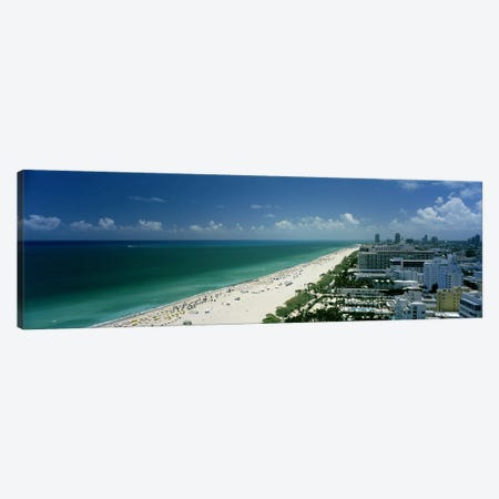 City at the beachfront, South Beach, Miami Beach, Florida, USA Canvas Print #PIM6679} by Panoramic Images Canvas Art Print