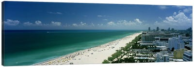 City at the beachfront, South Beach, Miami Beach, Florida, USA Canvas Print #PIM6679