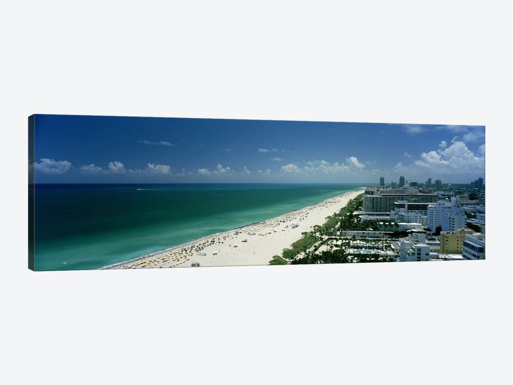 City at the beachfront, South Beach, Miami Beach, Florida, USA by Panoramic Images 1-piece Canvas Wall Art
