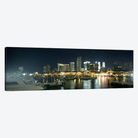 Boats at a harbor with buildings in the background, Miami Yacht Basin, Miami, Florida, USA Canvas Print #PIM6681} by Panoramic Images Canvas Art