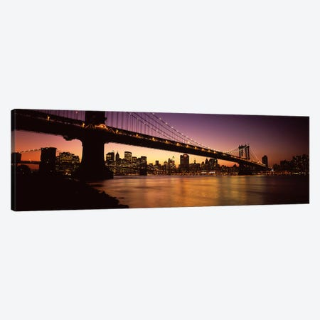 Bridge across the riverManhattan Bridge, Lower Manhattan, New York City, New York State, USA Canvas Print #PIM6686} by Panoramic Images Art Print