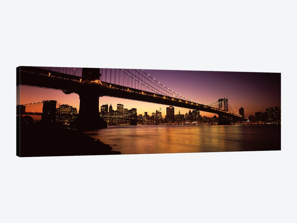 Bridge across the riverManhattan Bridge, Lower Manhattan, New York City, New York State, USA by Panoramic Images 1-piece Canvas Artwork