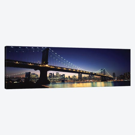Bridge across the riverManhattan Bridge, Lower Manhattan, New York City, New York State, USA Canvas Print #PIM6687} by Panoramic Images Canvas Print