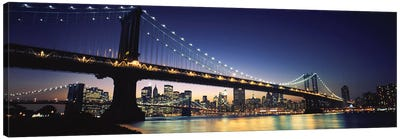 Bridge across the riverManhattan Bridge, Lower Manhattan, New York City, New York State, USA Canvas Art Print