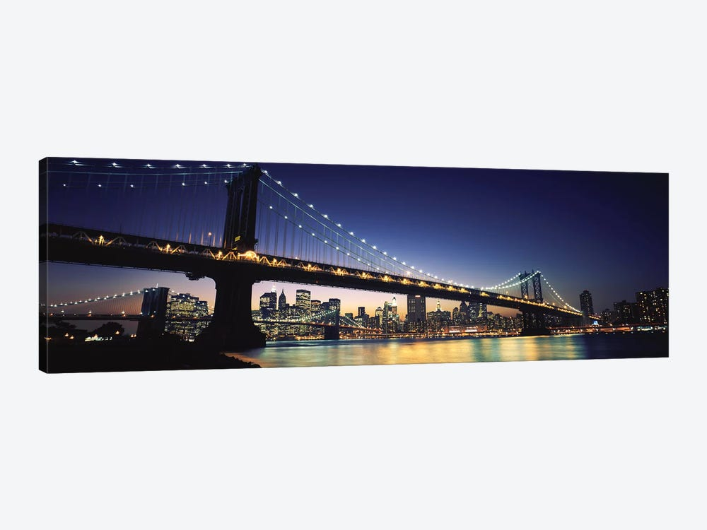 Bridge across the riverManhattan Bridge, Lower Manhattan, New York City, New York State, USA by Panoramic Images 1-piece Canvas Art Print