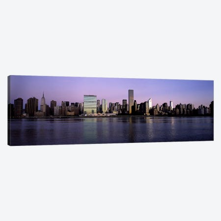 Midtown East Skyline At Dusk, Midtown, Manhattan, New York City, New York, USA Canvas Print #PIM6688} by Panoramic Images Canvas Art