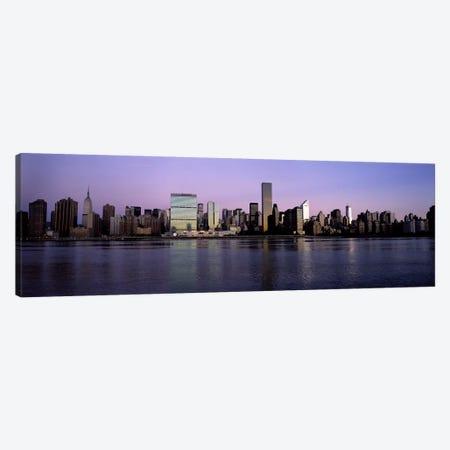 Midtown East Skyline At Dusk, Midtown, Manhattan, New York City, New York, USA Canvas Print #PIM6688} by Panoramic Images Canvas Art