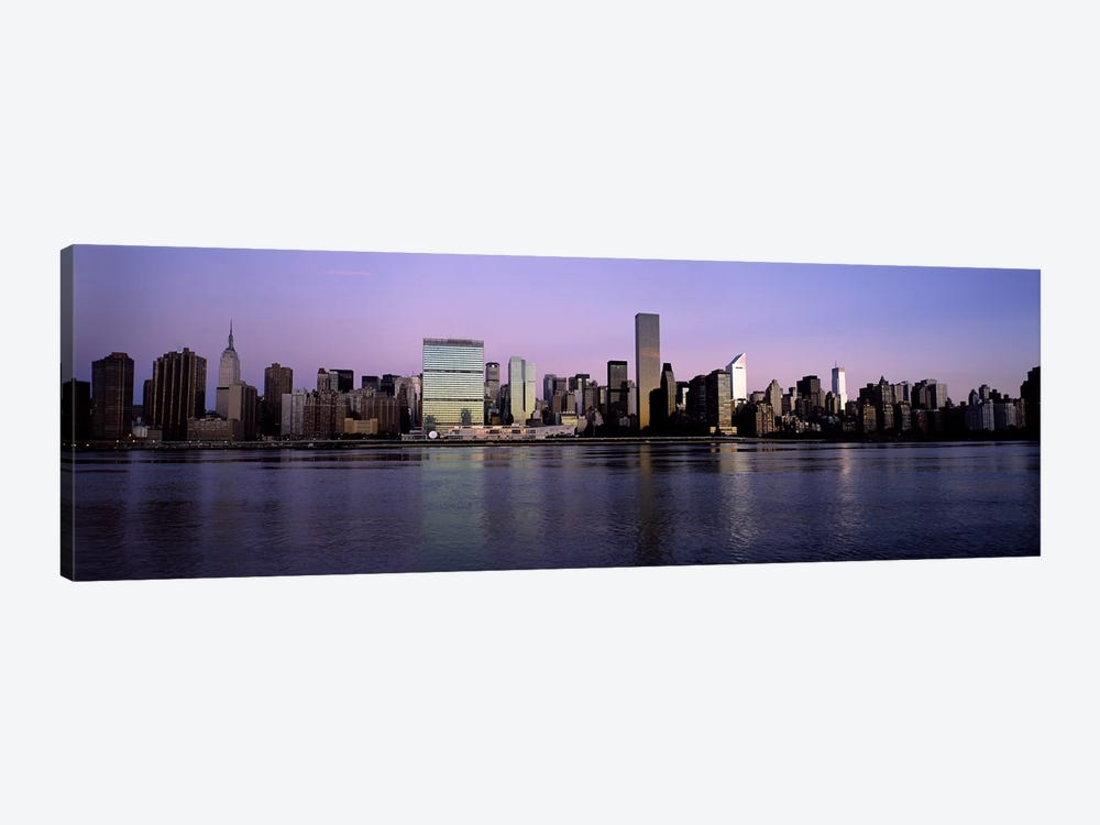 Midtown East Skyline At Dusk, Midtown, Manhattan, New York City, New York, USA by Panoramic Images 1-piece Canvas Art