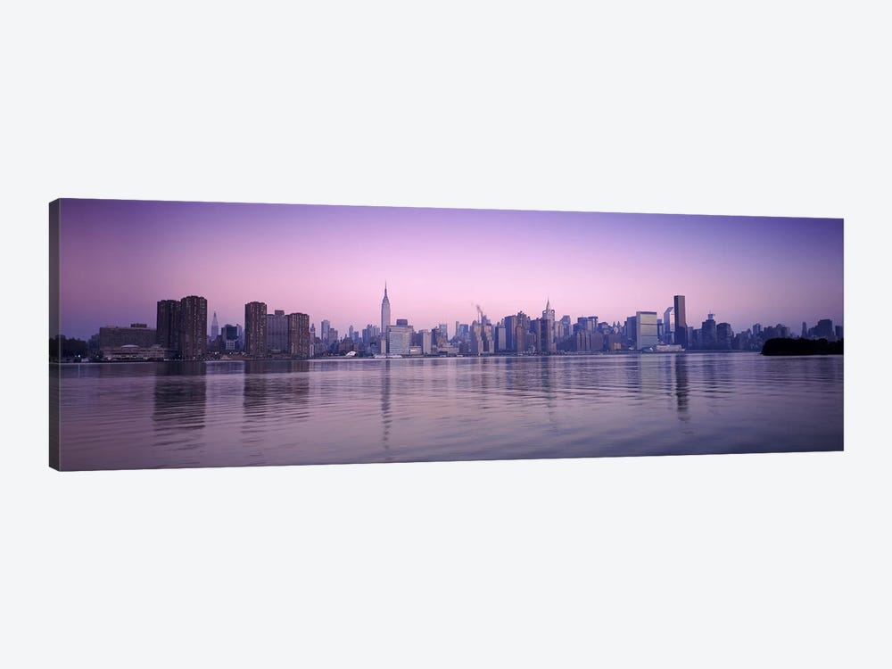 Buildings at the waterfront, viewed from QueensEmpire State Building, Midtown Manhattan, New York City, New York State, USA by Panoramic Images 1-piece Canvas Art Print