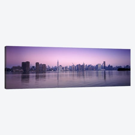 Buildings at the waterfront, viewed from QueensEmpire State Building, Midtown Manhattan, New York City, New York State, USA Canvas Print #PIM6689} by Panoramic Images Canvas Wall Art
