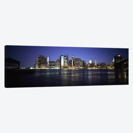 Early Dawn View Of Lower Manhattan And East River, New York City, New York, USA Canvas Print #PIM6690} by Panoramic Images Canvas Print