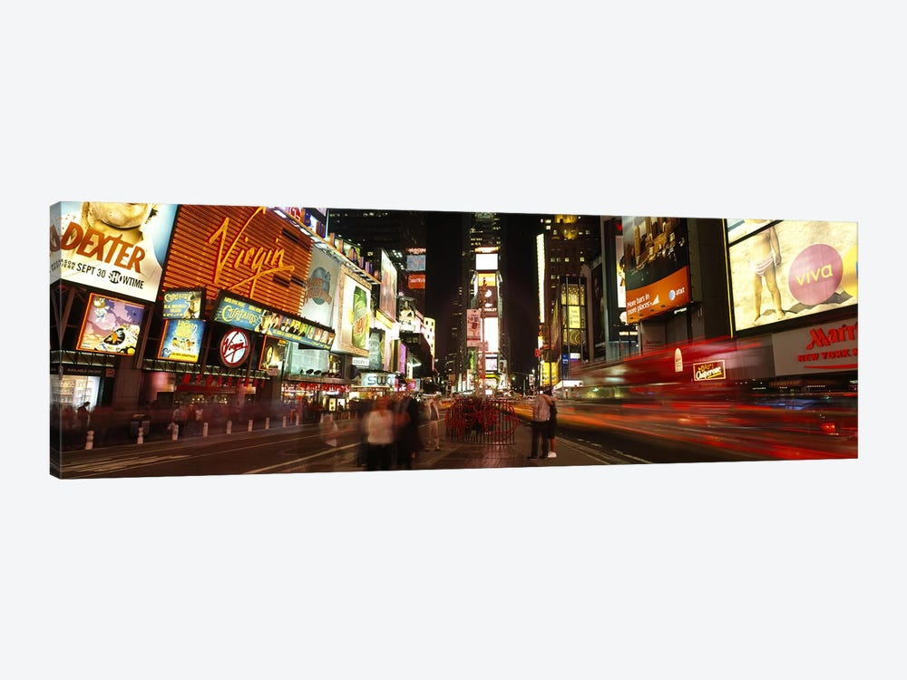 Buildings in a cityBroadway, Times Square, Midtown Manhattan, Manhattan, New York City, New York State, USA by Panoramic Images 1-piece Canvas Artwork
