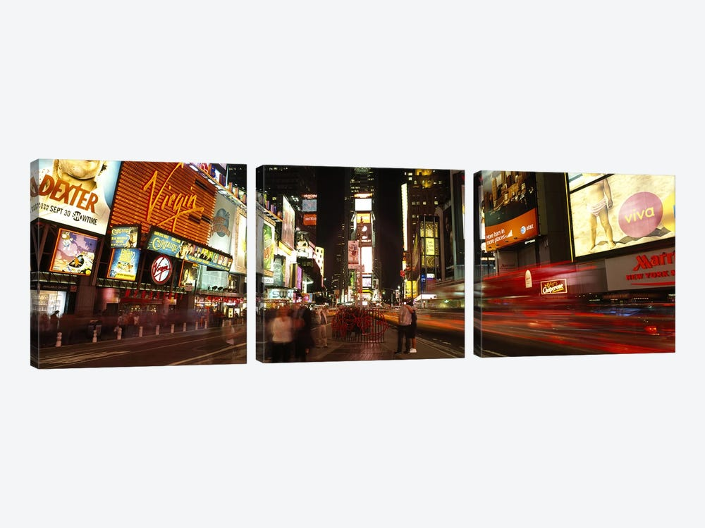 Buildings in a cityBroadway, Times Square, Midtown Manhattan, Manhattan, New York City, New York State, USA by Panoramic Images 3-piece Canvas Artwork
