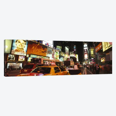 Buildings lit up at night in a cityBroadway, Times Square, Midtown Manhattan, Manhattan, New York City, New York State, USA Canvas Print #PIM6694} by Panoramic Images Canvas Wall Art