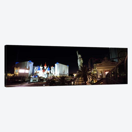 Statue in front of a hotelNew York New York Hotel, Excalibur Hotel & Casino, The Las Vegas Strip, Las Vegas, Nevada, USA Canvas Print #PIM6700} by Panoramic Images Art Print
