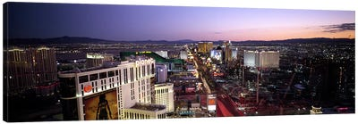 Aerial view of a cityParis Las Vegas, The Las Vegas Strip, Las Vegas, Nevada, USA Canvas Print #PIM6701