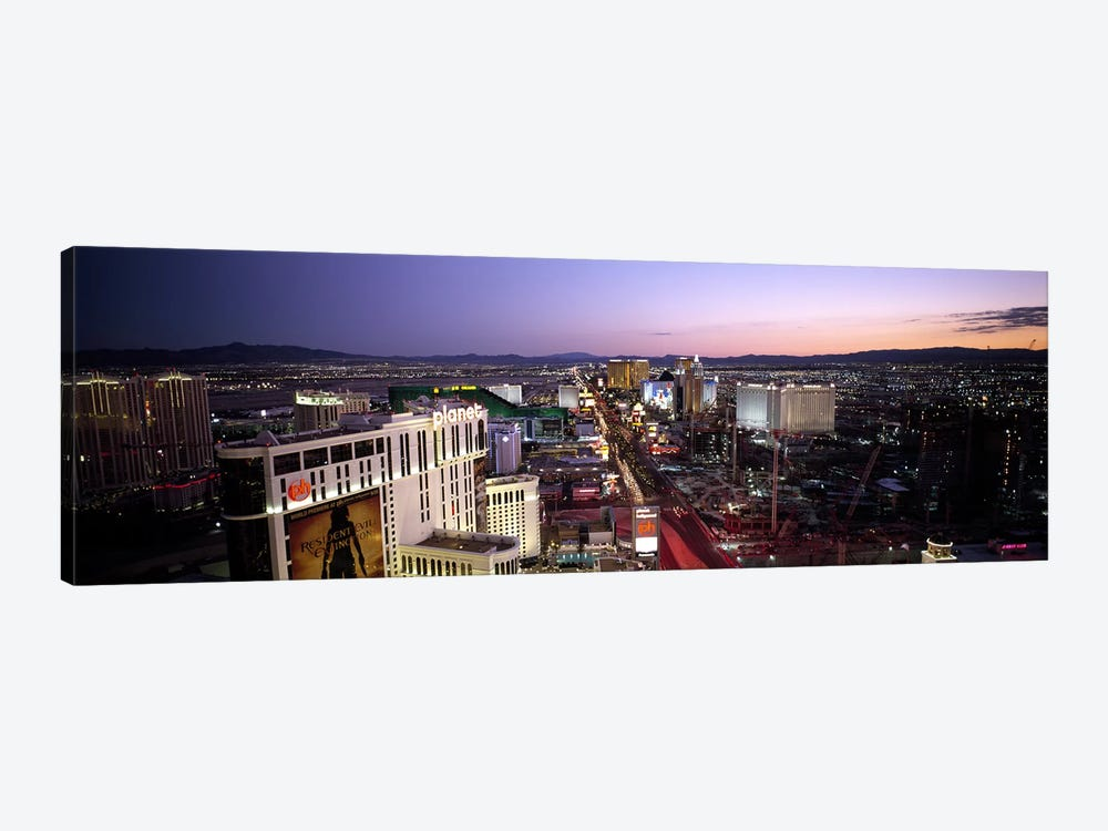 Aerial view of a cityParis Las Vegas, The Las Vegas Strip, Las Vegas, Nevada, USA by Panoramic Images 1-piece Canvas Art