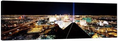High angle view of a city from Mandalay Bay Resort and Casino, Las Vegas, Clark County, Nevada, USA Canvas Art Print
