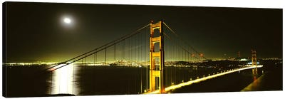 Suspension bridge across the sea, Golden Gate Bridge, San Francisco, California, USA #4 Canvas Print #PIM6708