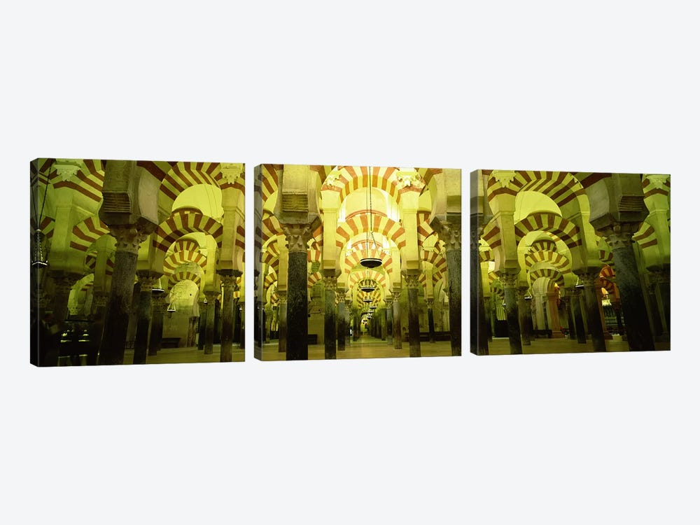 Interiors of a cathedral, La Mezquita Cathedral, Cordoba, Cordoba Province, Spain by Panoramic Images 3-piece Canvas Art