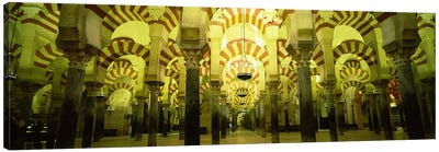 Interiors of a cathedral, La Mezquita Cathedral, Cordoba, Cordoba Province, Spain Canvas Art Print