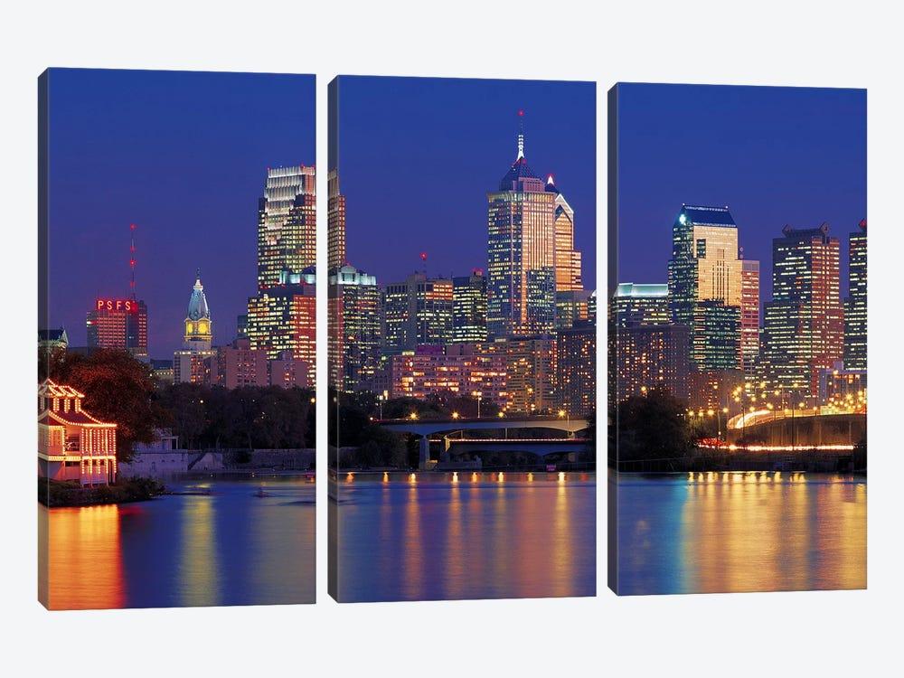 Philadelphia, Pennsylvania by Panoramic Images 3-piece Canvas Art Print