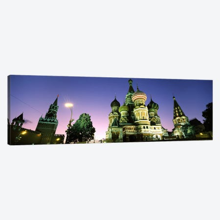 Low angle view of a cathedral, St. Basil's Cathedral, Red Square, Moscow, Russia Canvas Print #PIM6716} by Panoramic Images Canvas Print