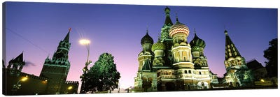 Low angle view of a cathedral, St. Basil's Cathedral, Red Square, Moscow, Russia Canvas Art Print
